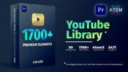 پروژه پریمیر مجموعه اجزای ویدیویی برای یوتیوب Youtube Pack