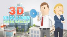 پروژه افترافکت ساخت انیمیشن کاراکتر سه بعدی 3D Characters Explainer Toolkit