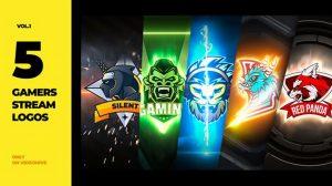 پروژه افترافکت مجموعه نمایش لوگو گیمینگ Games Stream Logos