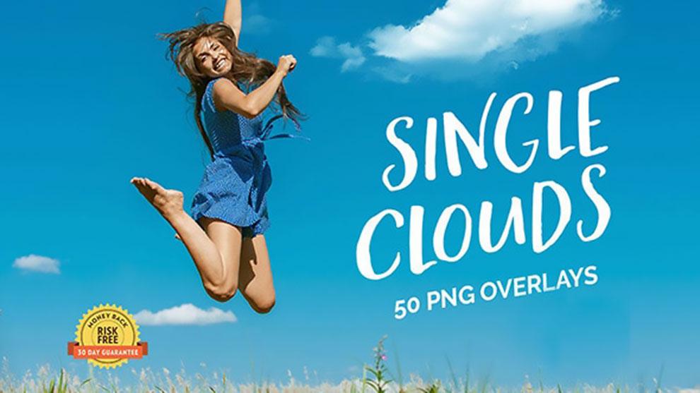 مجموعه تصاویر ابر Single Clouds Photo Overlays