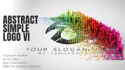 پروژه افترافکت نمایش لوگو انتزاعی ساده Abstract Simple Logo