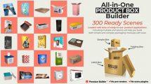 پروژه افترافکت مجموعه موکاپ محصولات All in One Product Box Builder