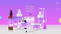 پروژه افترافکت موکاپ محصولات زیبایی Animated Mockups Cosmetics