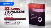 پروژه افترافکت مجموعه ویژوالایزر موزیک Audio Visualizers Pack