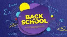پروژه افترافکت افتتاحیه بازگشت به مدرسه Back to School Intro Opener