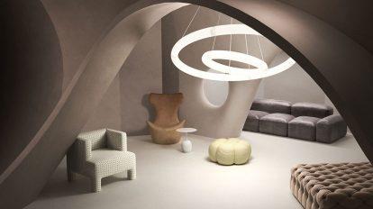 صحنه آماده سه بعدی داخلی خانه مدرن BeInspiration 69