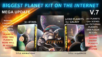 پروژه افترافکت موشن گرافیک اجرام کیهانی Biggest Solar System Kit