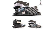 مدل سه بعدی ساختمان سینما Building Cinema