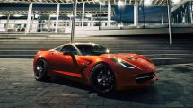 مدل سه بعدی خودرو شورلت کوروت Chervrolet Corvette C7
