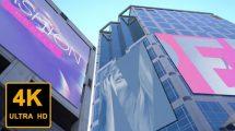 پروژه افترافکت موکاپ صفحه نمایش در شهر City Displays Mockup