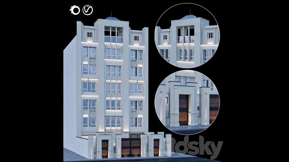 مدل سه بعدی ساختمان کلاسیک Classic Building