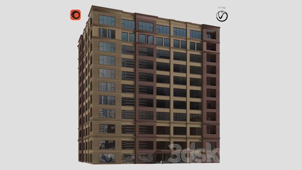 مدل سه بعدی ساختمان تجاری Corner Building