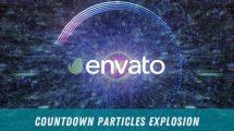 پروژه افترافکت شمارش معکوس با انفجار پارتیکلی Coundown Particles Explosion