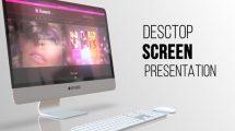 پروژه افترافکت پرزنتیشن روی اسکرین دسکتاپ Desktop Screen Presentation