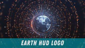 پروژه افترافکت نمایش لوگو Earth HUD Logo