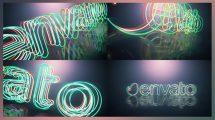 پروژه افترافکت نمایش لوگو اینترو نئونی Electric Neon Intro