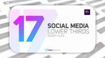 پروژه پریمیر زیرنویس شبکه اجتماعی Elegant Social Media Lower Thirds