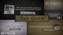 پروژه افترافکت نمایش نقل قول Epic Quotes
