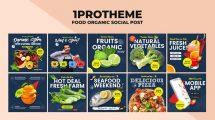 پروژه افترافکت پست اینستاگرام غذا ارگانیک Food Organic Instagram Post v10