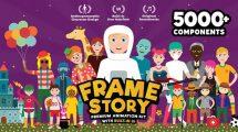 پروژه افترافکت انیمیشن کاراکتر Framestory Explainer Character Toolkit