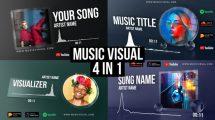 پروژه افترافکت ویژوالایزر موزیک Glass Audio React Music Visualizer