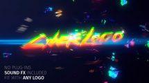 پروژه افترافکت نمایش لوگو افکت گلیچ Glitch Cyber Logo