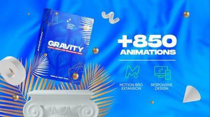 پروژه افترافکت مجموعه موشن گرافیک برای شبکه اجتماعی Gravity Pack