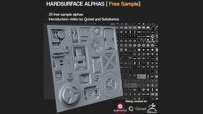 مجموعه تصویر آلفا برای مدلسازی سطوح سخت Hardsurface Alpha Maps