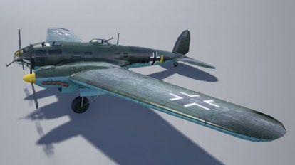 مدل سه بعدی جت جنگنده Heinkel 111