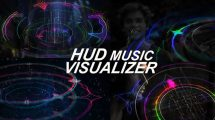 پروژه افترافکت ویژوالایزر موزیک HUD Music Visualizer