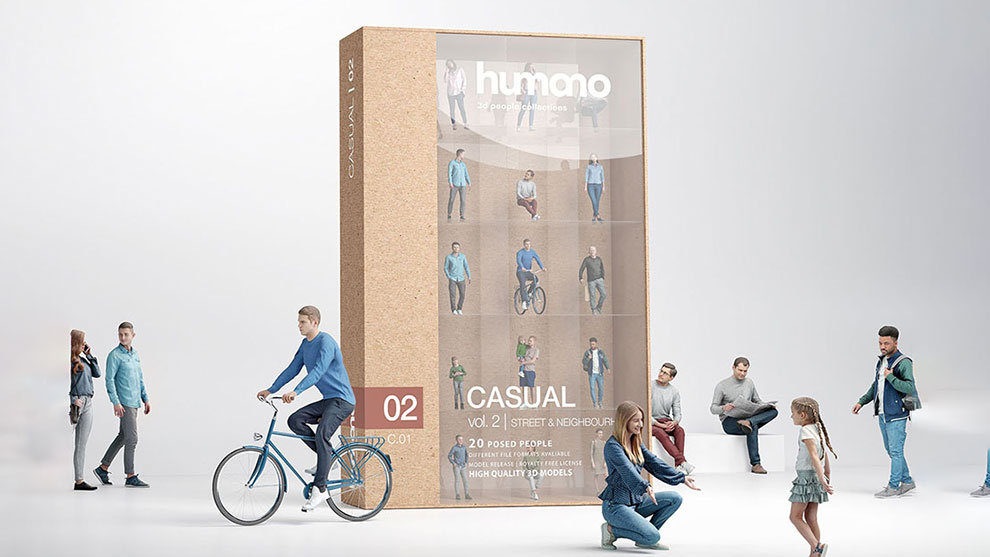 مجموعه مدل سه بعدی انسان Humano Vol 02