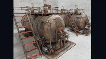 مدل سه بعدی بویلر صنعتی Industrial Steam Boiler