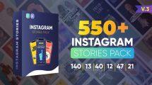 پروژه افترافکت مجموعه استوری اینستاگرام Instagram Stories