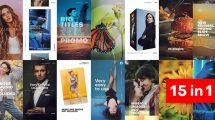 پروژه افترافکت اسلایدشو استوری اینستاگرام Instagram Story Slideshow Pack
