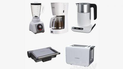 مجموعه مدل سه بعدی لوازم آشپزخانه Kitchen Appliance