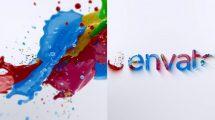 پروژه افترافکت نمایش لوگو با پاشیدن رنگ Liquid Paint Splash Logo 2