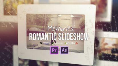 پروژه پریمیر اسلایدشو رومانتیک Memories Romantic Slideshow