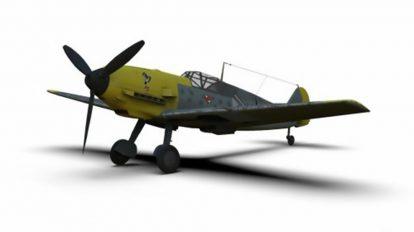 مدل سه بعدی جنگنده جنگ جهانی دوم Messerschmitt Bf 109