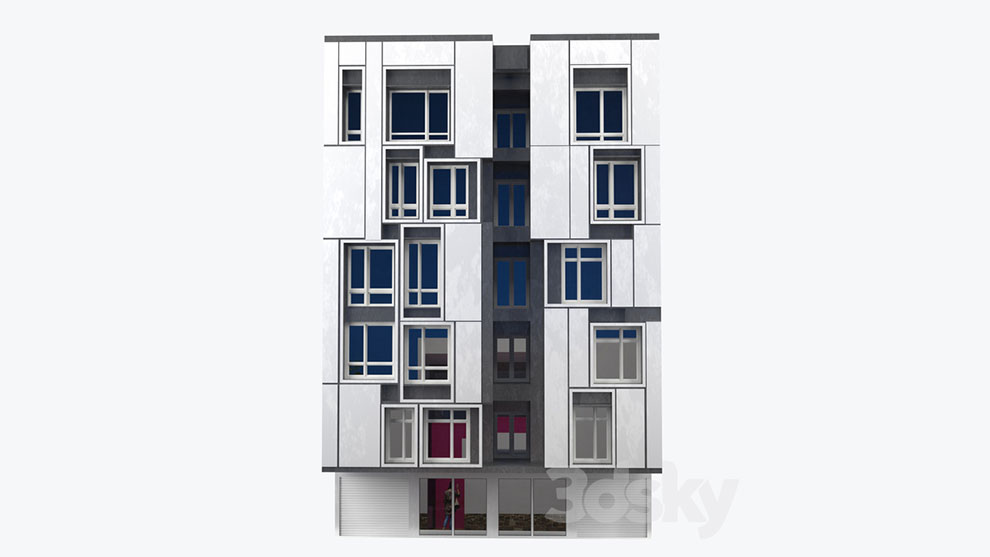 مدل سه بعدی ساختمان مدرن Modern Building 3