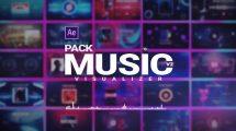 پروژه افترافکت ویژوالایزر موزیک Music Visualizer Pack