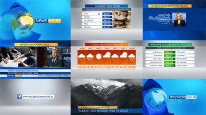 پروژه افترافکت برودکست خبری Complete News Package