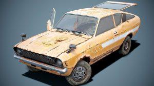 مدل سه بعدی ماشین خراب قدیمی Old Classic Coupe