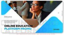 پروژه افترافکت تیزر تبلیغاتی وبسایت آموزشی Online Education Platform Promo