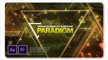 پروژه پریمیر اسلایدشو پارالکس Paradigm Triangles Parallax Slideshow
