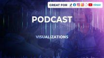پروژه افترافکت مجموعه ویژوالایزر پودکست Podcast Visualizations