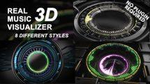 پروژه افترافکت ویژوالایزر موزیک Real 3D Music Visualizer