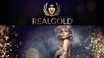پروژه افترافکت اسلایدشو با افکت های طلایی Real Gold Slideshow