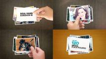 پروژه افترافکت نمایش عکس با دست Real Hand Slideshow