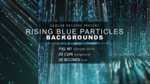 مجموعه فوتیج زمینه متحرک ذرات پارتیکلی Rising Blue Particles Backgrounds