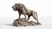 مدل سه بعدی مجسمه شیر Sculpture of Leo